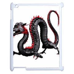 Dragon Black Red China Asian 3d Apple Ipad 2 Case (white) by Nexatart
