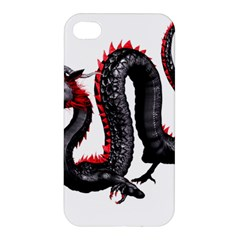 Dragon Black Red China Asian 3d Apple Iphone 4/4s Hardshell Case