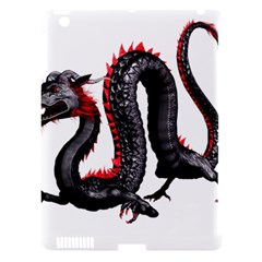 Dragon Black Red China Asian 3d Apple Ipad 3/4 Hardshell Case (compatible With Smart Cover) by Nexatart