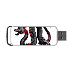 Dragon Black Red China Asian 3d Portable Usb Flash (one Side)