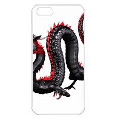 Dragon Black Red China Asian 3d Apple Iphone 5 Seamless Case (white) by Nexatart