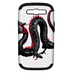 Dragon Black Red China Asian 3d Samsung Galaxy S Iii Hardshell Case (pc+silicone)