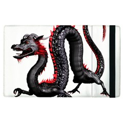 Dragon Black Red China Asian 3d Apple Ipad 2 Flip Case by Nexatart