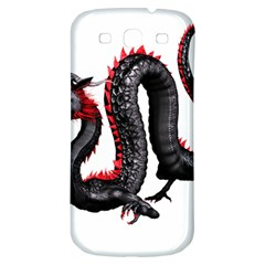 Dragon Black Red China Asian 3d Samsung Galaxy S3 S Iii Classic Hardshell Back Case by Nexatart