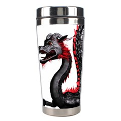 Dragon Black Red China Asian 3d Stainless Steel Travel Tumblers