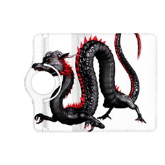 Dragon Black Red China Asian 3d Kindle Fire Hd (2013) Flip 360 Case by Nexatart
