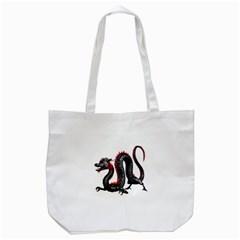 Dragon Black Red China Asian 3d Tote Bag (white) by Nexatart