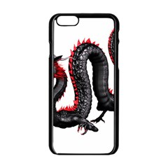 Dragon Black Red China Asian 3d Apple Iphone 6/6s Black Enamel Case by Nexatart