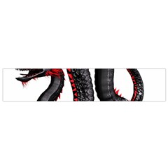 Dragon Black Red China Asian 3d Flano Scarf (small) by Nexatart