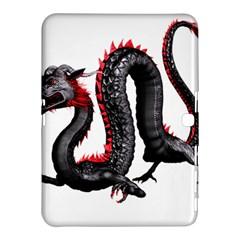 Dragon Black Red China Asian 3d Samsung Galaxy Tab 4 (10 1 ) Hardshell Case