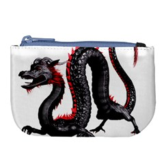 Dragon Black Red China Asian 3d Large Coin Purse by Nexatart
