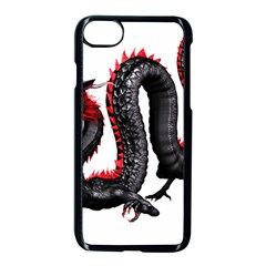 Dragon Black Red China Asian 3d Apple Iphone 7 Seamless Case (black) by Nexatart