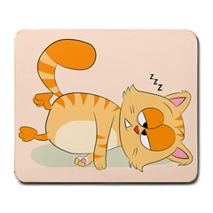 Even Cat Hates Monday Large Mousepads by Catifornia