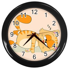 Even Cat Hates Monday Wall Clocks (black) by Catifornia