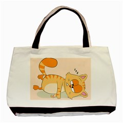 Even Cat Hates Monday Basic Tote Bag (two Sides) by Catifornia