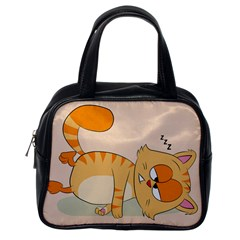 Even Cat Hates Monday Classic Handbags (one Side) by Catifornia