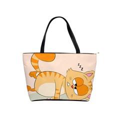 Even Cat Hates Monday Shoulder Handbags by Catifornia