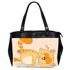 Even Cat Hates Monday Office Handbags (2 Sides)  by Catifornia