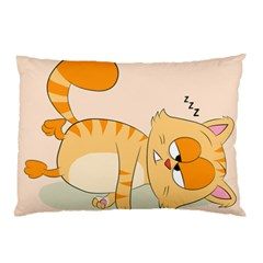Even Cat Hates Monday Pillow Case (two Sides) by Catifornia
