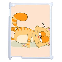 Even Cat Hates Monday Apple Ipad 2 Case (white) by Catifornia