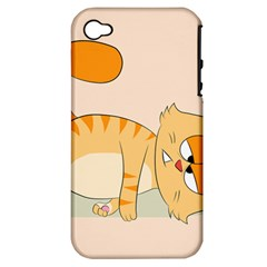 Even Cat Hates Monday Apple Iphone 4/4s Hardshell Case (pc+silicone) by Catifornia