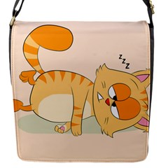 Even Cat Hates Monday Flap Messenger Bag (s) by Catifornia