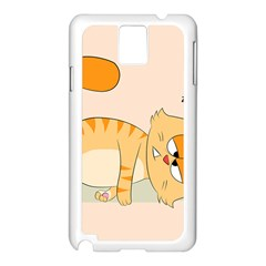 Even Cat Hates Monday Samsung Galaxy Note 3 N9005 Case (white) by Catifornia