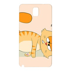Even Cat Hates Monday Samsung Galaxy Note 3 N9005 Hardshell Back Case by Catifornia
