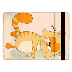 Even Cat Hates Monday Samsung Galaxy Tab Pro 12 2  Flip Case by Catifornia