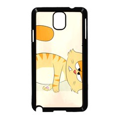 Even Cat Hates Monday Samsung Galaxy Note 3 Neo Hardshell Case (black) by Catifornia