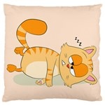 Even Cat Hates Monday Standard Flano Cushion Case (Two Sides) Back