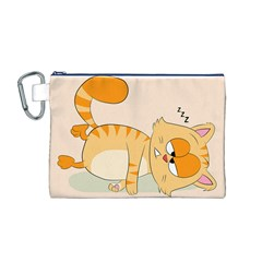 Even Cat Hates Monday Canvas Cosmetic Bag (m) by Catifornia