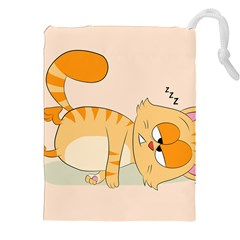 Even Cat Hates Monday Drawstring Pouches (xxl) by Catifornia