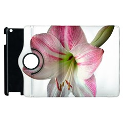Flower Blossom Bloom Amaryllis Apple Ipad 2 Flip 360 Case by Nexatart