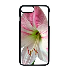 Flower Blossom Bloom Amaryllis Apple Iphone 7 Plus Seamless Case (black)