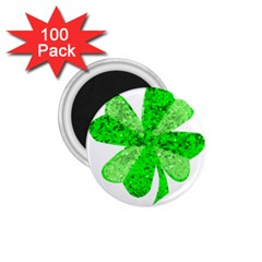 St Patricks Day Shamrock Green 1 75  Magnets (100 Pack)