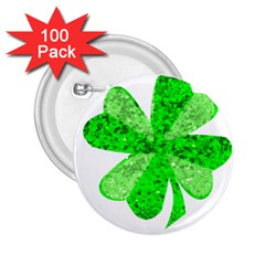 St Patricks Day Shamrock Green 2 25  Buttons (100 Pack)