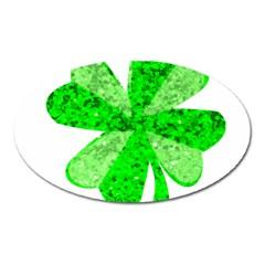 St Patricks Day Shamrock Green Oval Magnet by Nexatart