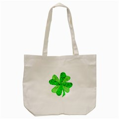 St Patricks Day Shamrock Green Tote Bag (cream) by Nexatart