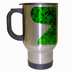 St Patricks Day Shamrock Green Travel Mug (silver Gray) by Nexatart