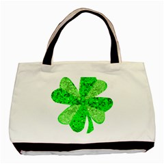 St Patricks Day Shamrock Green Basic Tote Bag