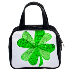 St Patricks Day Shamrock Green Classic Handbags (2 Sides) by Nexatart