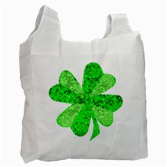 St Patricks Day Shamrock Green Recycle Bag (one Side)