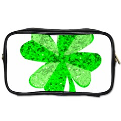 St Patricks Day Shamrock Green Toiletries Bags 2 Side by Nexatart