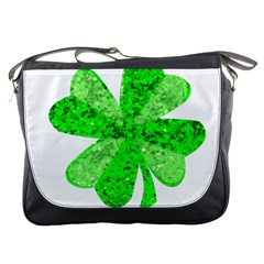 St Patricks Day Shamrock Green Messenger Bags