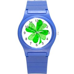 St Patricks Day Shamrock Green Round Plastic Sport Watch (s)