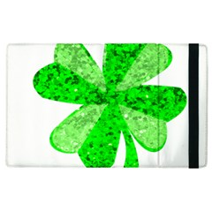 St Patricks Day Shamrock Green Apple Ipad 2 Flip Case by Nexatart