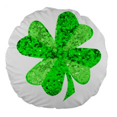 St Patricks Day Shamrock Green Large 18  Premium Round Cushions by Nexatart