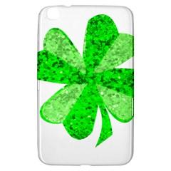 St Patricks Day Shamrock Green Samsung Galaxy Tab 3 (8 ) T3100 Hardshell Case  by Nexatart