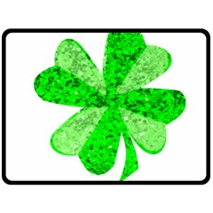St Patricks Day Shamrock Green Double Sided Fleece Blanket (large)  by Nexatart